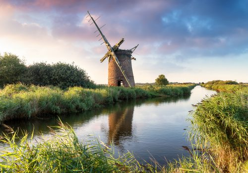 Windmill and water